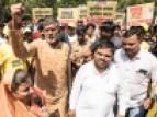 Setembro de 2017, no 23º dia da marcha Bharat Yatra em Indore (Madhya Pradesh, Índia).